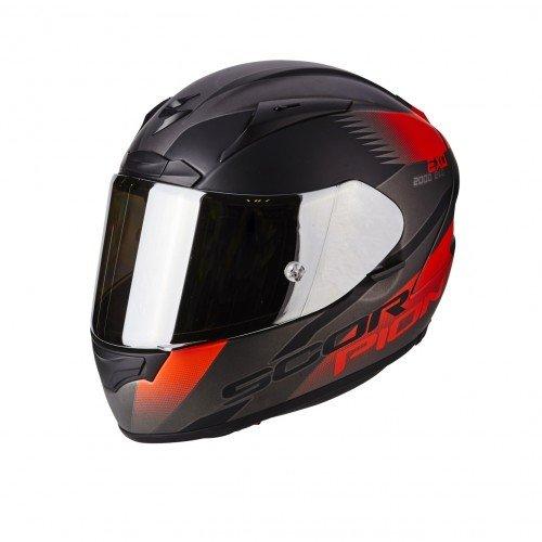 Scorpion Casco moto EXO-2000 EVO AIR Volcano Argento-Nero-Neon Rosso L