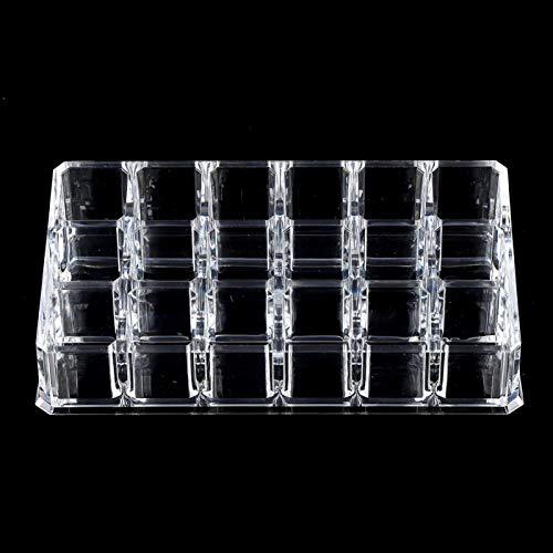 Caja de almacenamiento de lápiz labial Caja de almacenamiento transparente portátil para maquillaje