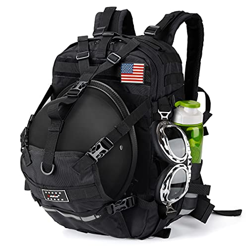 Motorcycle Large Capacity Helmet Backpack , Men Basketball Luggage Storage Backpack for Sports Outdoor Activities School Backpack.
