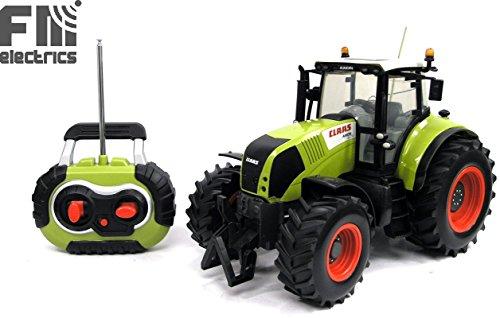 Traktor 1:16 Claas, Ferngesteuert, Riesen Traktor 35 cm lang ! 1,2 Kg schwer! Voll steuerbar inkl. Fernsteuerung. Mit Beleuchtung und unklusive Batterien für Fernsteuerung und für den Traktor !*