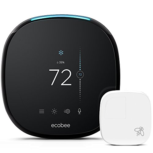ecobee4 Smart Thermostat with Built-In Alexa, Room Sensor...