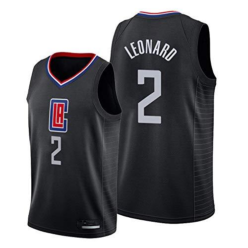 XIAOHAI NBA Basketball Jersey Los Angeles Clippers # 2 Kawhi Leonard Resistente al Desgaste Transpirable Malla Bordada Camisetas de Baloncesto Deportes Camiseta,S