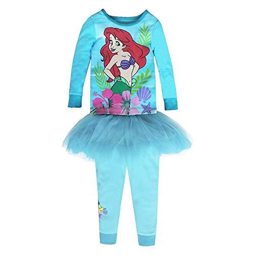 Disney Ariel PJ PALS and Tutu Set for Girls – The Little Mermaid, Size 4