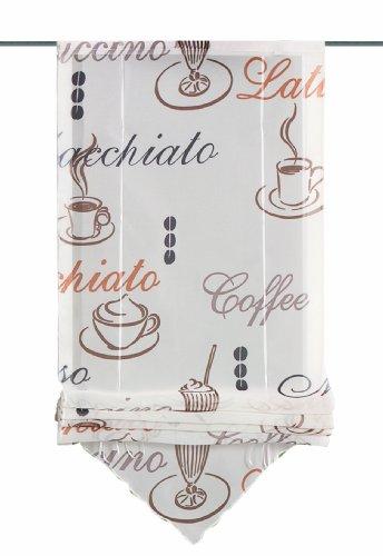 Home Fashion 57132-802 Cafe - Estor con enganches (140 x 60 cm), color crema
