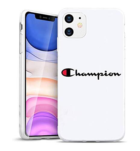 SVEN-EU Champion Sport Logo iPhone 6/6S Plus Hoesje – Zachte TPU Ultra-Slim iPhone 6/6S Plus Stijlvolle Beschermhoes voor iPhone 6/6S Plus [Drop Protection, Non-slip] – Zwart, iPhone 11 pro max, Kleur: wit