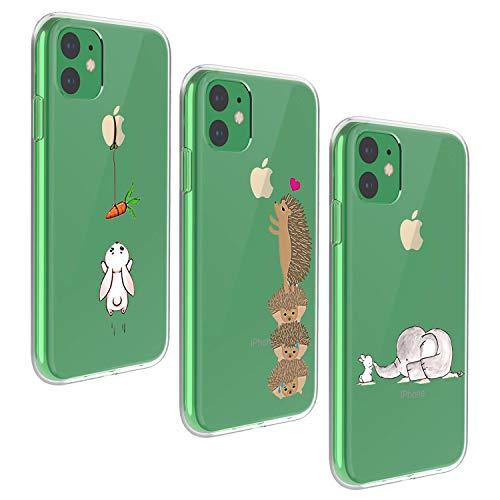 Oihxse Case ersatz für iPhone 11 Hülle Silikon Ultra Dünne Durchsichtige Transparent Schlanke Tasche Kristall TPU Handyhülle Bumper Soft Schutzhülle für iPhone 11-6,1 Zoll-Insgesamt sind DREI (1A)