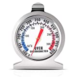 Oven Thermometer 50-300°C/100-600°F, Oven Grill Fry Chef Smoker Thermometer Instant Read Stainless...
