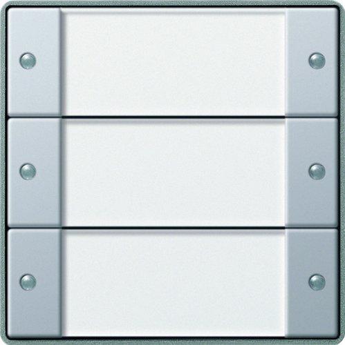 Gira 1013203 KNX Tastsensor 2 3-Fach ohne Controller Gira E22, Aluminium