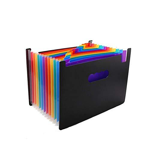 ZXYSR Extended Folder, 24 Pocket Multi kleuren Accordion A4 Bestand Ticket Letter Organizer, Plastic Draagbare Vul Opslag met Grote Capaciteit Uitbreidbare Portemonnee Beugel