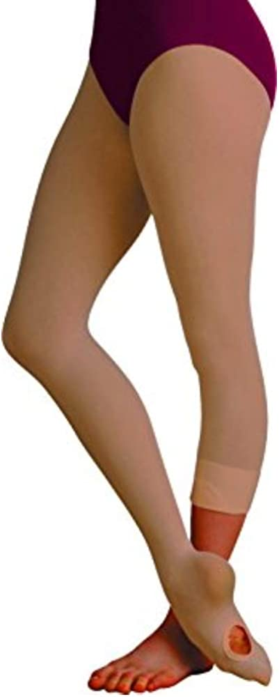 Body Wrappers A31 TotalSTRETCH Convertible Dance Tights (Tall, Suntan)
