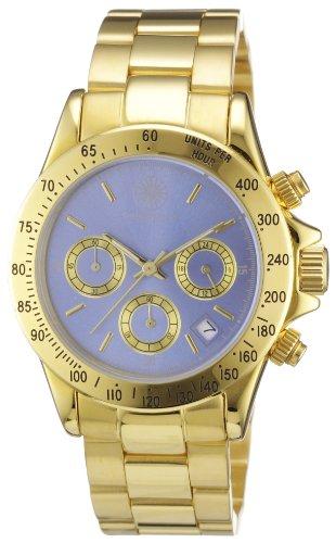 Constantin Durmont Herren-Armbanduhr XL Executive Chronograph Edelstahl beschichtet CD-EXEC-QZ-GD-GDGD-BL