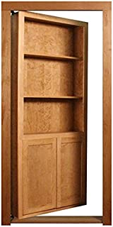 InvisiDoor 32 in. x 80 in. Unfinished Cherry 4-Shelf Bookcase Door
