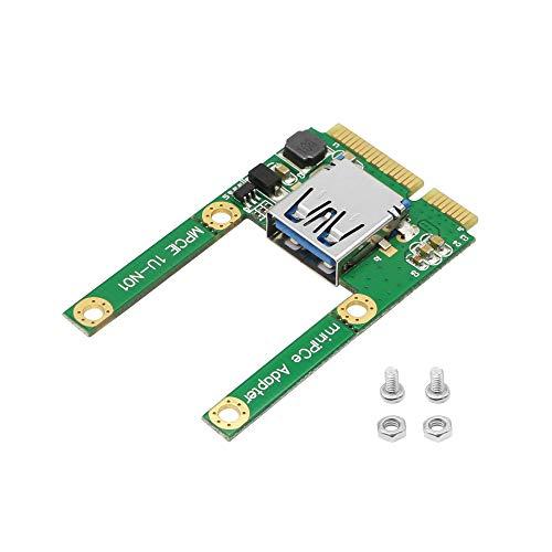 CERRXIAN Adaptador Mini PCI-e a USB Mini PCI-E macho a USB 2.0 A hembra PCI Express adaptador tarjeta para WIN2000/XP/Vista/Win7/Win8/LINUX