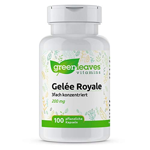 Greenleaves Vitamins - Gelée Royale 100 vegetarische Kapseln 200mg