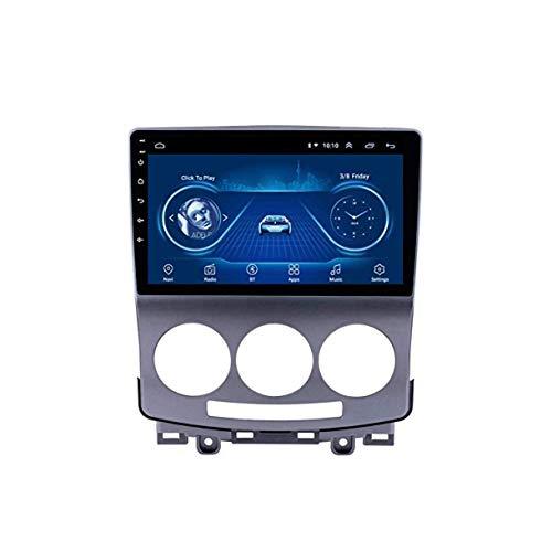 Lour Android 8.1 GPS Radio navegación TV, Pantalla de la Radio de la Pantalla táctil de 9 Pulgadas para 2005-2010 Mazda 5 con el Control del Volante de Bluetooth FM Am Espejo Enlace Dab C.