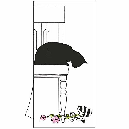 Paperproducts Design de Cuisine Serviette de Toilette avec Chat Noir Vase par Sue Böttcher, Multicolore, 19 in. X 28 en.