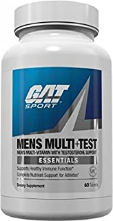 GAT Mens Multi + Test, Premium Multivitamin and Complete Testosterone Boosting Support with Tribulus Terristis, 60 Tablets/30 Servings