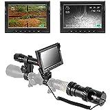 850nm赤外線ナイトビジョンスコープ、ライフルスコープ用3MP赤外線光学スコープ単眼カメラ、32G&HD 720Pビデオ/写真赤外線ナイトビジョンハンティングライフルスコープ、4.3インチHDディスプレイ