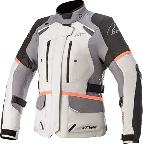 Alpinestars Stella Andes V3 Drystar Damen Motorrad Textiljacke Weiß/Schwarz/Grau M