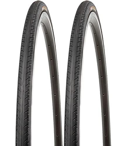P4B Neumáticos de bicicleta de 28 pulgadas (23-622), 700 x 23C, perfil estriado negativo, cubierta duradera para bicicleta, color negro