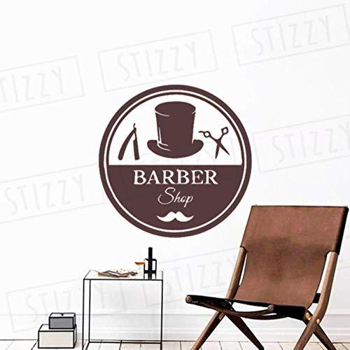 Muurstickers 57X57Cm Schaar Patroon Barbershop Mode Art Deco Beweegbare Wanddecoratie Kantoor Kinderkamer DIY PVC Slaapkamer