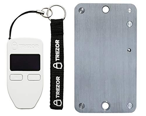 Trezor White Cryptocurrency Wallet & SteelWallet Indestructible Hardware Wallet Backup (weiß)