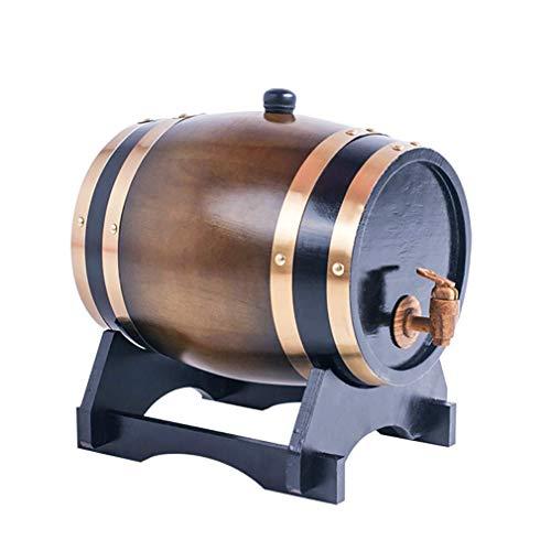 Casiers à vin Dispositif à vin Distributeur de vin en fût de chêne de Style Vintage, fabriqué à la Main à l'aide de chêne Blanc, tonneau de vin en boi