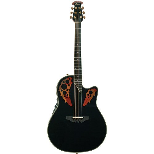 Ovation AX Series 2078AX-5 Acoustic-Electric Guitar, Black