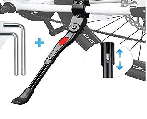 Soporte Lateral de Bicicleta, Hitopin Pata de Cabra para Bicicleta Trípode de Bicicleta, Ajustable del Retroceso de Bici, con Llave Hexagonal (Negro)