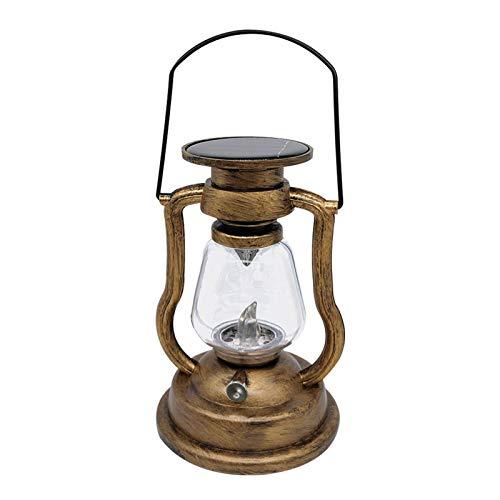 DASNTERED Flammenlicht Vintage Laterne, Solar Lampe Kerzenlicht, Vintage hängendes Nachtlicht, LED Camping Laterne Sturmlicht, für Wohnkultur Outdoor Camping