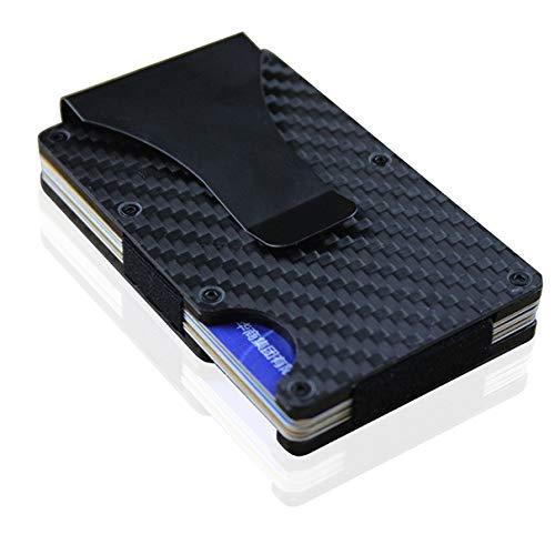 Carteira de metal carteira de fibra de carbono multifunções pacote de cartão criativo escova anti-roubo porta-cartões RFID