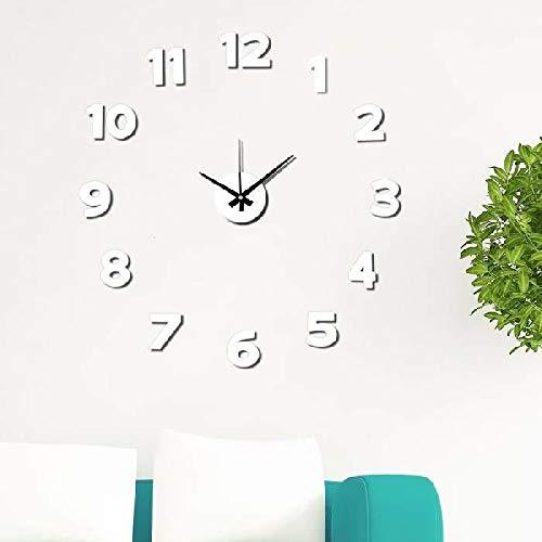 Dcasa Adhesivo Pared Relojes de Chimenea Decoración del hogar Unisex Adulto, Color, única