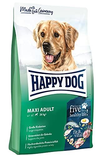 Happy Dog 60762 - Supreme fit & vital Maxi Adult - Hunde-Trockenfutter für große Hunde - 4 kg Inhalt