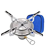 Mini Estufa para Acampar Estufa de Gas Portátil Aleación de Zinc Estufa de Camping,Quemador Plegable Con Bolsa de Almacenamiento,Para Senderismo al Aire libre,Camping