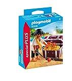 PLAYMOBIL- Pirata con Cofre del Tesoro Juguete, Multicolor (geobra...