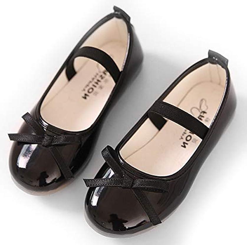 ジョージスティーブンソン玉フラスコ[ソポソポ] キッズ?フォーマル靴 軽量で履きやすい女の子のエナメル?パンプス 中敷き付き