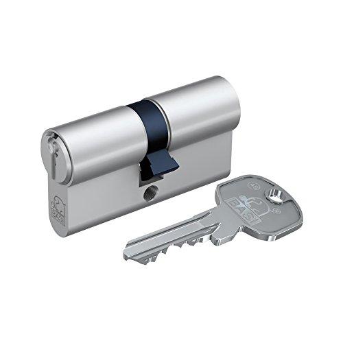 BASI 5010-2222 AS Profilzylinder, kurz, 22/22 mm, Nickel, Silber, 5010-2525