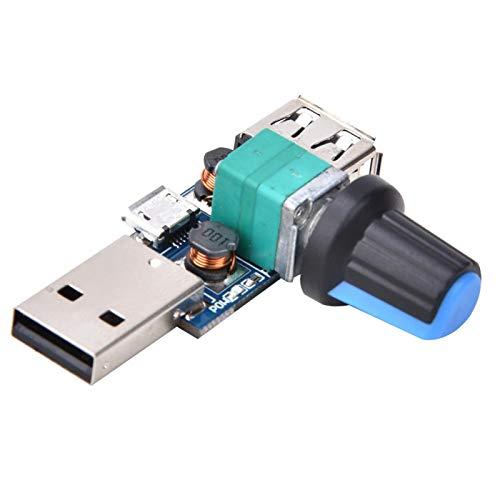 Módulo regulador de Velocidad del Ventilador USB Controlador de Velocidad del Ventilador 2 Piezas DC2.5~8.0V 5W Ajustable para múltiples Fuentes de alimentación