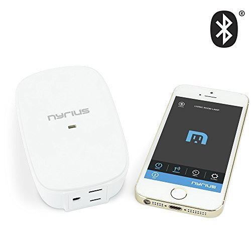 Nyrius Wireless Power Outlet Smart Switch for Smartphones & Tablets – iOS & Android App Remote...