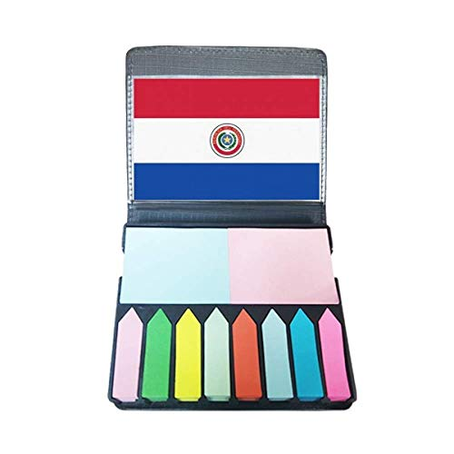 Paraguay National Flag South America Country Self Stick Note Color Page Marker Box