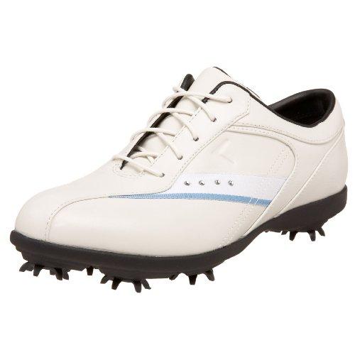 Callaway Women's GEMS Golf Shoe,Blanco/White/Blue,10.5 M US