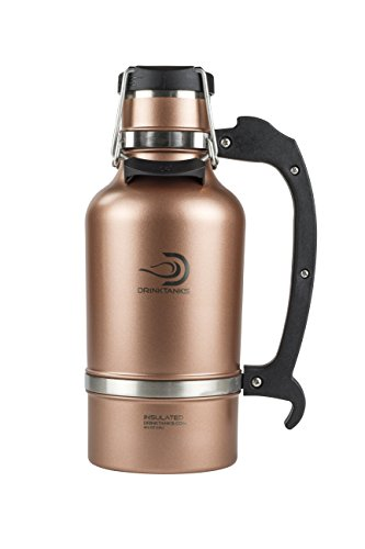 DrinkTanks Vacuum Insulated Stainless Steel Beer Growler, 64 oz.