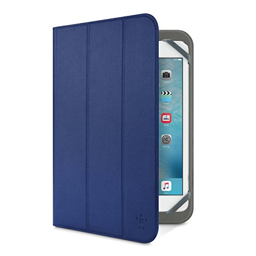 Belkin F7P355btC03 - Funda Folio Tri-Fold básica Universal de 8', Azul