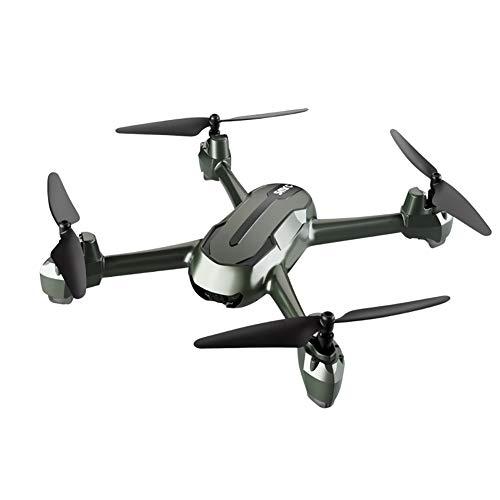 Delili Professionnel Drone 4K Caméra HD GPS 5G WiFi FPV RC Quadcopter Temps de vol 16 Minutes Headless Altitude Mode Hold Jouets RC,Vert,2 Batteries