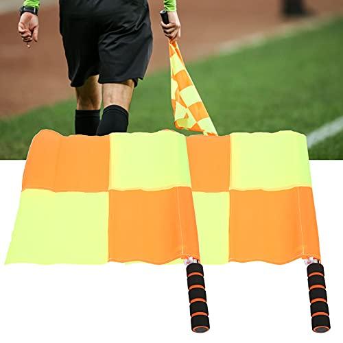 Hozee Bandera de árbitro, Banderas de Juez de línea de fútbol Bandera de árbitro de fútbol con Bolsa de Almacenamiento para Entrenamiento de fútbol para Entrenamiento de fútbol