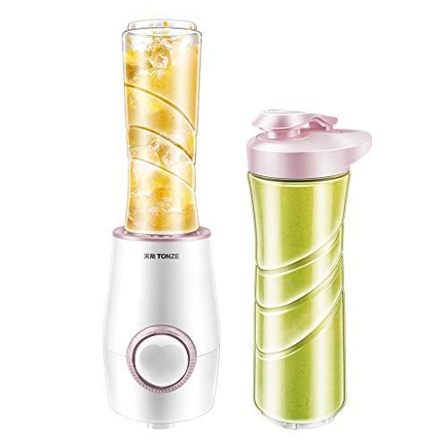 JCOCO Presse-fruits multifonctions, petit appareil à jus ménager, machine à usages multiples, configuration à double coupelle, jus facile 30 secondes (Couleur : Pink)