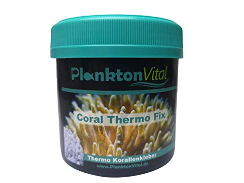 PlanktonVital Coral Thermo Fix Korallenkleber für Fixierung von Korallenablegern, Riffaufbauten im Meerwasser Aquarium Polymer Boipolymer Korallenfixierer für Dekoration im Aquarium (250ml)