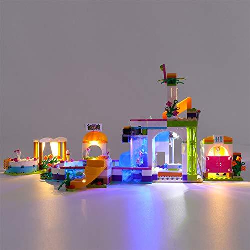 HLEZ USB Juego de Luces de para Piscina de Verano Friends Heartlake Modelo de Bloques de Construcción, Juego de Luces LED Compatible con Lego 41313 (Modelo Lego no Incluido)