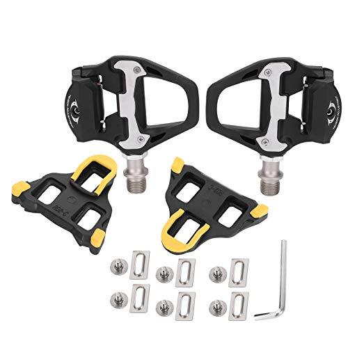 MAGT Bike Self‑Locking Pedals, SPD‑SL Aluminum Alloy Road Bike Self‑Locking Pedals with Cleats Bicycle Accessories