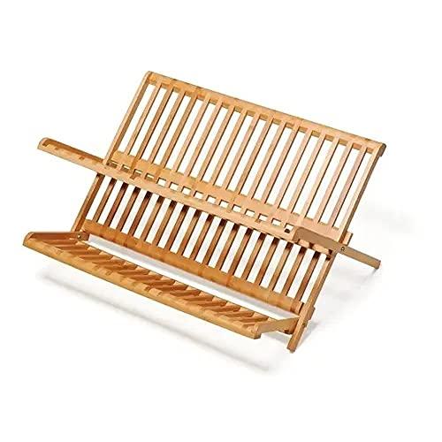 Escorredor De Louça Prato De Bambu 48x37x22